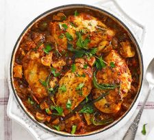 Lighter Chicken Cacciatore