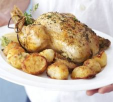 Slow Roast Chicken with Homemade Gravy